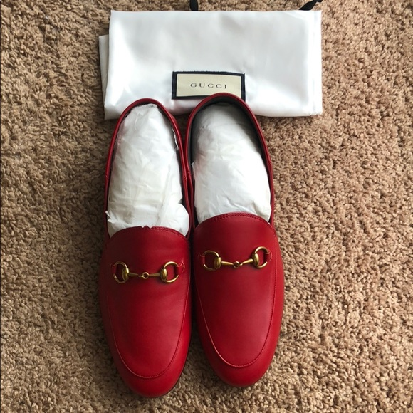c28af3a4238 Gucci Brixton Horsebit Loafers in Red